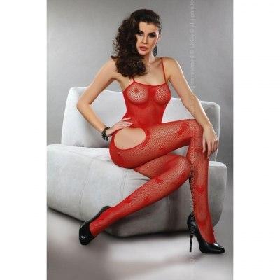 Красный боди-комбинезон в сердечки Titania S/L