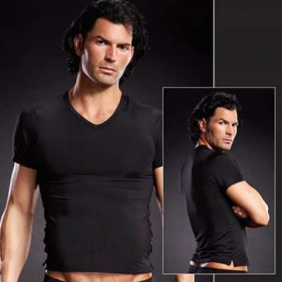 Мужская черная футболка L/XL