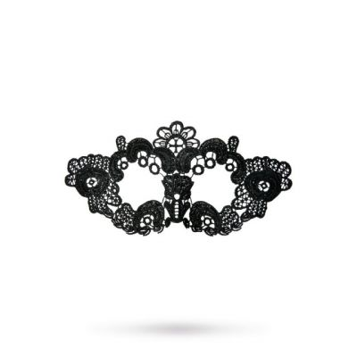 Черная кружевная маска Цветы