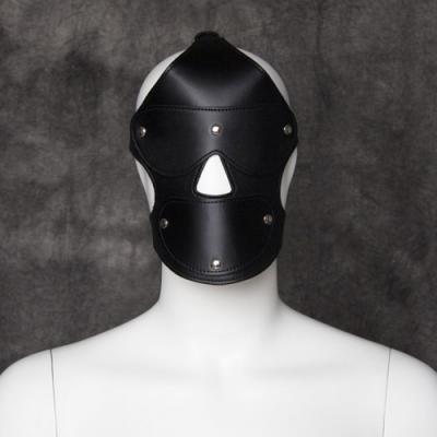 Черная маска с кляпом и с шорами на глаза и рот