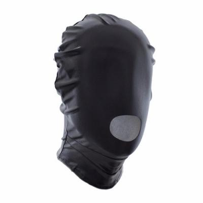 БДСМ маска черная с отверстием для рта