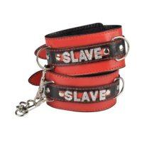 Наручники БДСМ красно-черные Slave