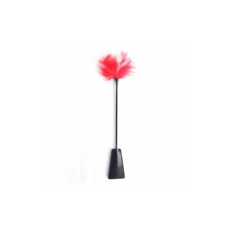 Стек-тиклер черный с бело-красным пером