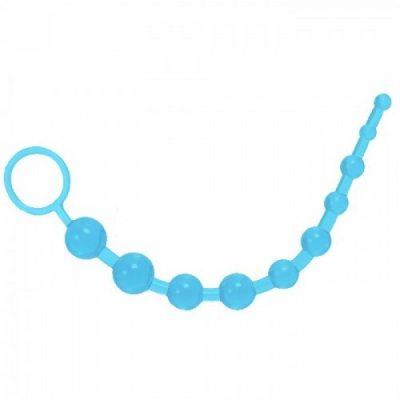 Голубая анальная цепочка Starsex