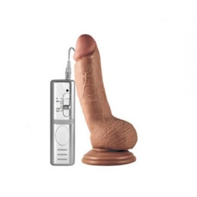 Вибратор с мошонкой Real Extreme мулат 16.5 см