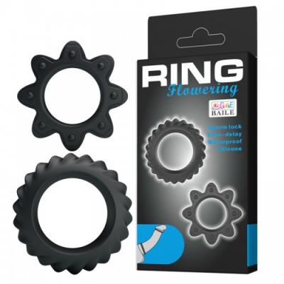 Набор ребристых эрекционных колец Ring Flowering