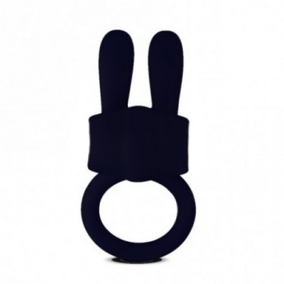 Черное кольцо Power Clit Cockring Rabbit