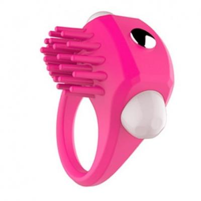 Эрекционное кольцо розовое с вибрацией