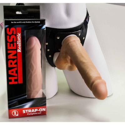 Страпон Harness  с реалистичный фаллосом и мошонкой