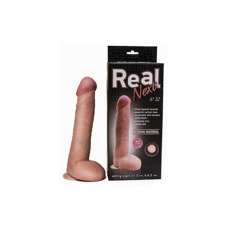 Реалистичный фаллос на присоске 9 6in Real Next №32