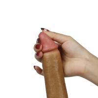 Фаллоимитатор на присоске с мошонкой 8 in Dual layered Liquid Silicone Nature Cock