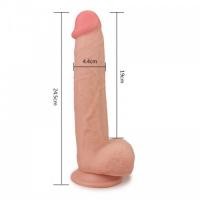 Большой реалистичный фаллос на присоске Skinlike Soft Cock 8,5 in